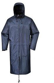 Stylish Black Plain Raincoat