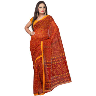 Florence Maroon Georgette Printed Saree Without Blouse