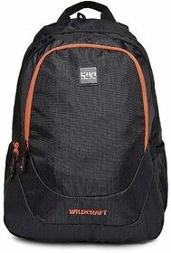 Wildcraft unisex black printed bagpack