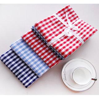 Aravi Kitchen Cotton Napkin Pack of 4 (12x12inch)-Multicolor