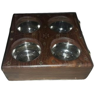 Wooden Dry Food Serving Box