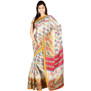 Florence Multicolor Art Silk Printed Saree Without Blouse