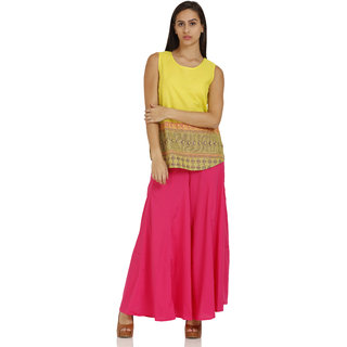 Aurelia Green Striped Cotton KURTI For Women