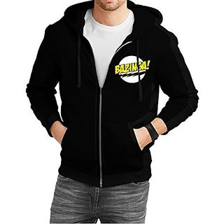 Fanideaz Mens Cotton Bazinga Big Bang Theory Zipper Hoodies For Men (Zipper Sweatshirt)