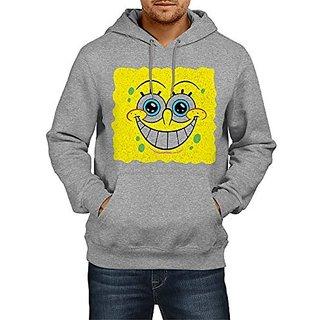 Fanideaz Mens Fullsleeve Cotton Surprise Sponge Bob Premium Hoodies Sweatshirt Pullover Jacket