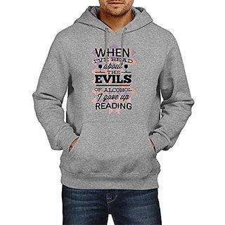 Fanideaz Cotton Alcoholic Evil Hoodies For Men Premium Sweatshirt
