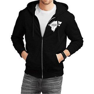 Fanideaz Cotton Winter is Coming Game of Thrones Wolf Zipper Hoodies For Men Zipper Sweatshirt