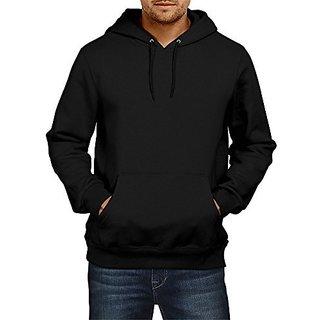 Fanideaz Mens Fullsleeve Cotton Plain Premium Hoodies Sweatshirt Pullover Jacket