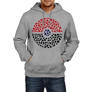 Fanideaz Cotton Crowded Pokemon World Hoodies For Men Premium Sweatshirt