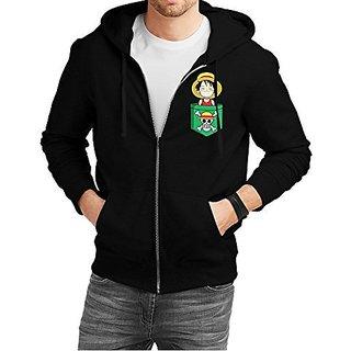 Fanideaz Cotton One Piece Anime Zipper Hoodies For Men Zipper Sweatshirt
