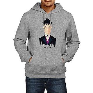Fanideaz Mens Fullsleeve Cotton Gotham Batman Premium Hoodies Sweatshirt Pullover Jacket