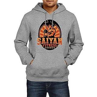 Fanideaz Mens Fullsleeve Cotton Saiyan Fitness Gym DBZ Premium Hoodies Sweatshirt Pullover Jacket