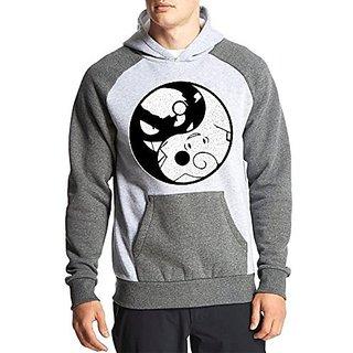 Fanideaz Cotton Full Sleeves Cute and Evil Ying Yang Hoodies For Men Premium Sweatshirt