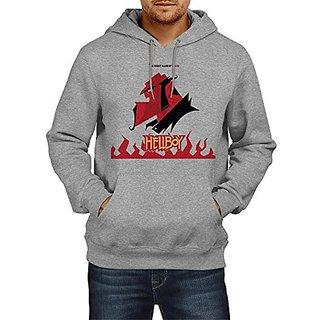 Fanideaz Mens Fullsleeve Cotton HellBoy Premium Hoodies Sweatshirt Pullover Jacket