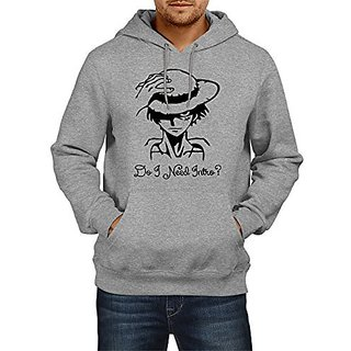 Fanideaz Mens Fullsleeve Cotton Do I Need Intro One Piece Captain Pirate Premium Hoodies Sweatshirt Pullover Jacket