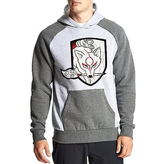 Fanideaz Cotton Full Sleeves Fire Fox Hoodies For Men Premium Sweatshirt