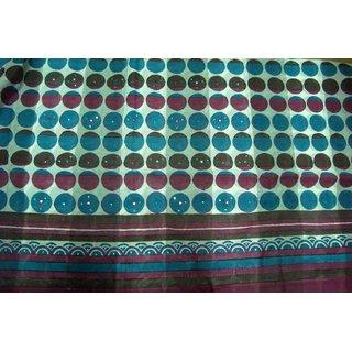 Chanderi Cotton - Unstitched Embroidered Punjabi Suit