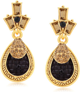 Sukkhi Blossomy Gold Plated LCT Stone Dangle Earrings For Women