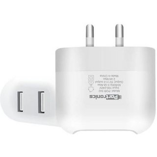 Portronics USB AC Adapter 2.4Amp with Dual USB Port Mobile Charger POR542