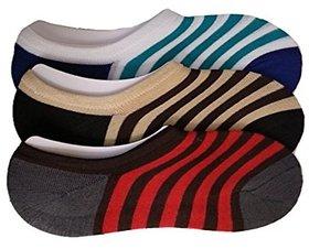 Mens Loafer Socks Multicoloured Pack of 3 Pair