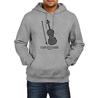 Fanideaz Cotton Sherlock Favourite Violin Hoodies For Men Premium Sweatshirt