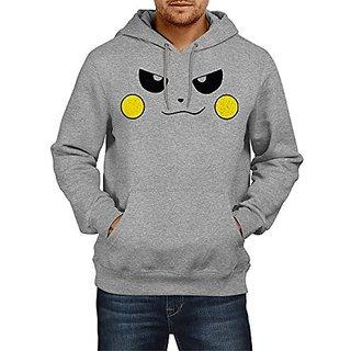 Fanideaz Mens Fullsleeve Cotton Evil Face Pokemon Premium Hoodies Sweatshirt Pullover Jacket