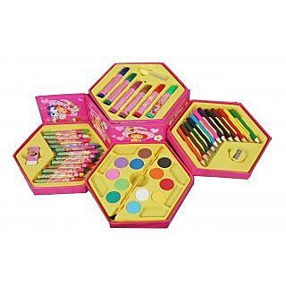 46 Art Set (PCS Color SET, Color Pencil, Crayons, Oil Pastel, Sketch Pens)