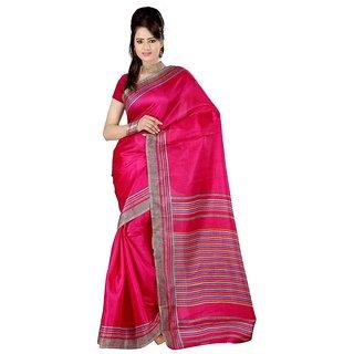 Kajal Sarees Pink Bhagalpuri Silk Saree