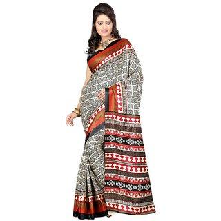 Kajal Saree Beige Bhagalpuri Silk Saree