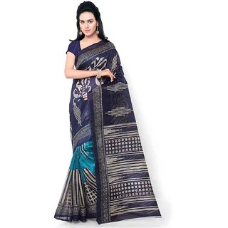 Kajal Sarees Blue Art Silk Saree