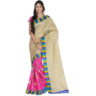 Kajal Sarees Multicoloured Bhagalpuri Silk Saree