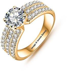 Jewels Galaxy Luxuria Trendy Gold Plated AAA Zircon Women Jewellery Rings