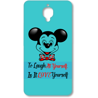 One Plus Three Designer Hard-Plastic Phone Cover From Print Opera - Micky Mouse
