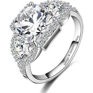 Jewels Galaxy Luxuria AAA Zirconia Wedding Rings 18K Gold/Platinum Plated Micro Inlay Zircon Angel Wings Rings