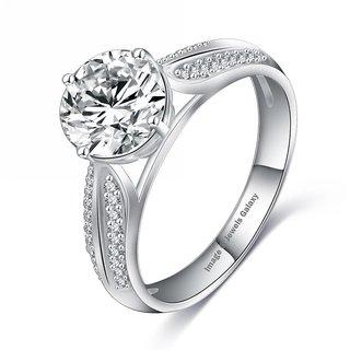 Jewels Galaxy Luxuria High Quality Platinum Plated AAA Zircon Fashion Jewellery Eternity Rings