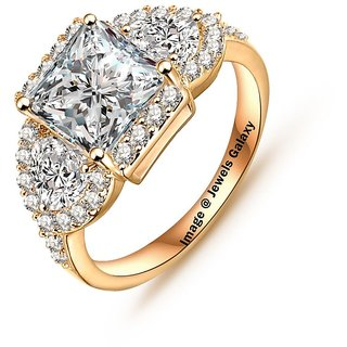 Buy Jewels Galaxy Luxuria Top Quality Gold Plated Delicate Rings
