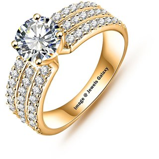 Jewels Galaxy Luxuria Trendy Gold Plated AAA Zircon Women Jewellery Rings
