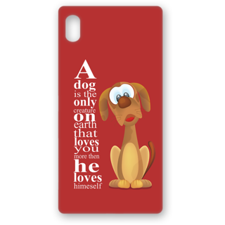 Sony Xperia Z5 Premium Designer Hard-Plastic Phone Cover From Print Opera - Dog Related Thought