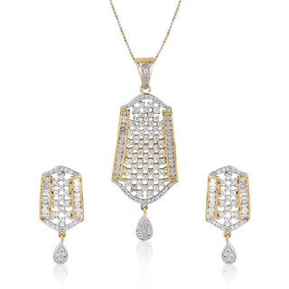 Jewels Galaxy Royal Look AD Pendant Set