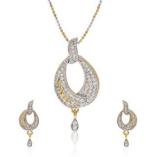 Jewels Galaxy Exclusive American Diamond Studded Pendant Set