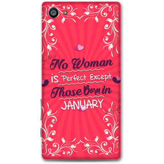 Sony Xperia Z5 Compact Designer Hard-Plastic Phone Cover From Print Opera -Woman Born In January
