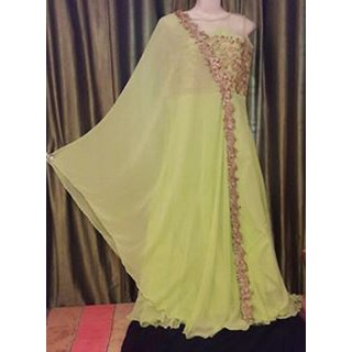 Designer Yellow Color Gown For Girl's