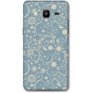 Samsung Galaxy On5 Designer Hard-Plastic Phone Cover From Print Opera - Grey Floral