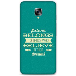 One Plus Three Designer Hard-Plastic Phone Cover From Print Opera - Typography