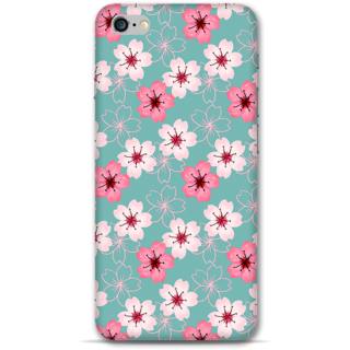 IPhone 6-6s Plus Designer Hard-Plastic Phone Cover From Print Opera - Pink And White Floral