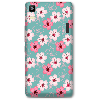 Lenovo K3 Note Designer Hard-Plastic Phone Cover From Print Opera - Pink And White Floral