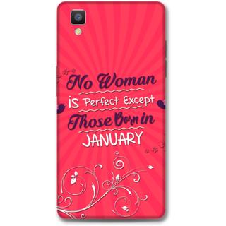 Oppo F1 Designer Hard-Plastic Phone Cover From Print Opera -January Born