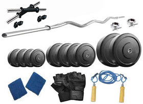 Protoner  16 Kg With 3 Rods Home Gym Package