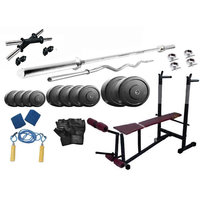 Protoner 40 Kgs PVC Weight With 6 In 1 Bench Home Gym P