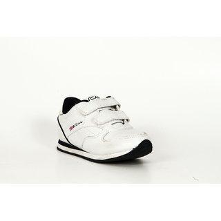 Escan Kids White Sports Shoes
